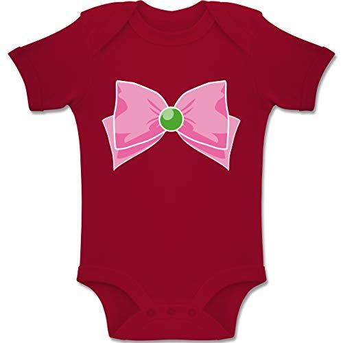 Monat Superhelden 18 Kostüm 12 - Karneval und Fasching Baby - Superheld Manga Jupiter Kostüm - 12-18 Monate - Rot - BZ10 - Baby Body Kurzarm Jungen Mädchen