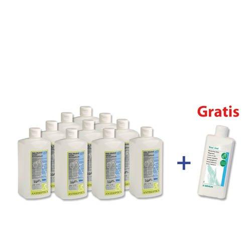 Poly-Alcohol Hände-Antisepticum, 10 x 500 ml + 1 x 500 ml Trixo-lind gratis (500-ml-flasche Poly)