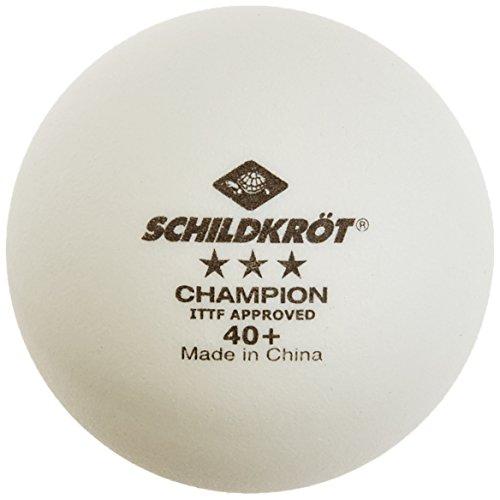 Donic-Schildkröt Tischtennis Premium Ball 3* ITTF Champion 40+ von Schildkröt, 3 Stern Polyball, Wettkampf, Tunier, ITTF zugelassen, weiss, 3er Box, Kunststoff Celluloid-frei 608540