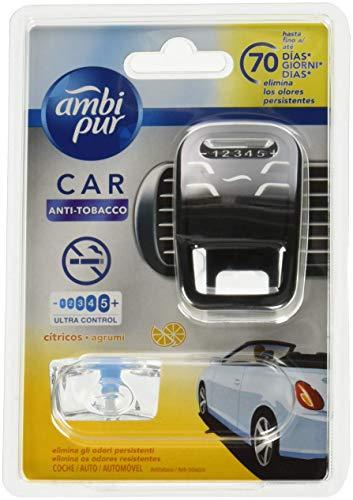 Ambi Pur Car Deodorante per auto, Anti-Tabacco con 1 ricarica, 7 ml, agrum