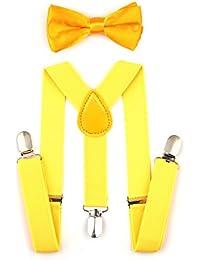 Children Kids Braces Bow tie set- Adjustable elastic Suspenders with Bowtie set for Boys & Girls by AWAYTR