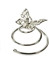 Joyas para pelo mariposa 6 espirales accesorios para ocassiones festivas, boda, novia, plateado con baño de rodio