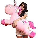 Missley Lovely Unicorn Plüschtiere gefüllt Einhorn Kissen Stofftiere (Pink, 31.49 in/80CM)