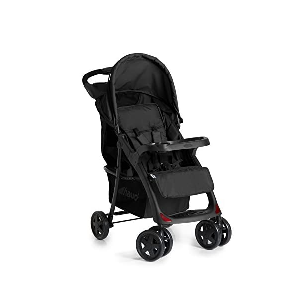 Hauck Shopper Neo II One Hand Fold 4 Wheel Pushchair with Raincover, Black, From Birth to 15 Kg Hauck Fold in seconds with one hand Comfortable seat with lying position and adjustable footrest Includes 2 practical bottle trays 1