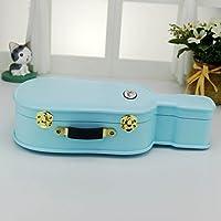 Preisvergleich für Baby-lustiges Spielzeug Europäischen Stil Exquisite Gitarre Design Spieluhr Schmuckschatulle Home Decoration_Blue