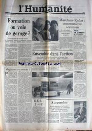 humanite-l-du-29-11-1977-formation-ou-voie-de-garage-marchai-kadar-communique-commun-massacre-au-moz