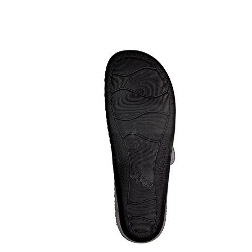 Femmes Mules Jana 8-27211-200 grise pleine sellerie cuir largeur H grau