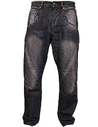 Newfacelook Disque d'hommes habillé en noir Pour le travail lourd Mécanisme de travail paysan Pantalon à manches longues.