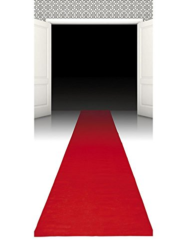 PARTY DISCOUNT ® Hollywood-Läufer Roter Teppich aus Vliesstoff, 450 x ()