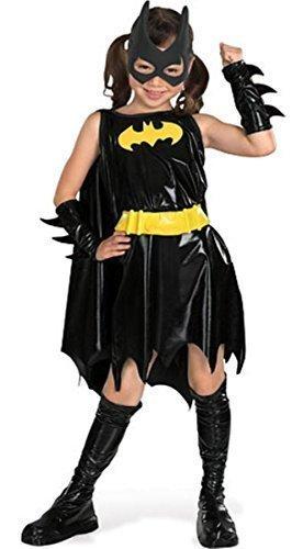 Mädchen Offiziell DC Comics Deluxe Batgirl Batman Halloween Büchertag Woche Film Comicbuch Kostüm Kleid Outfit 3 - 10 jahre - Schwarz - Schwarz, Mädchen, EU 128-140, Schwarz