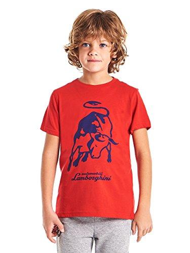 Automobili Lamborghini Jungen T-Shirt Big Bull Lamborghini für Kinder Red 6 Years - Lamborghini-shirt