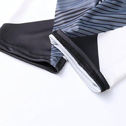 Pantalon de Yoga Imprimé à taille Haute,Sisit Femmes Sports Gym Yoga Entraînement Mid taille Pantalons de Course Fitness Leggings Élastique Gris