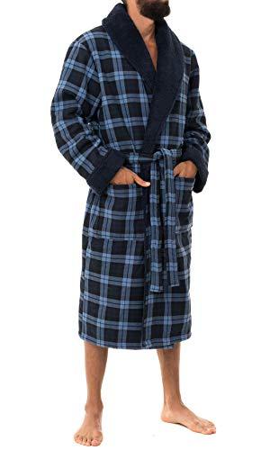 John Christian Bata Polar térmica Super Suave, Cuadros Azules XL