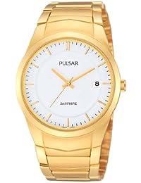 Pulsar Uhren PS9130X1 - Reloj analógico de cuarzo para hombre con correa de acero inoxidable, color dorado