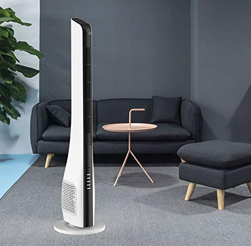 Ventilator Säulenventilator Turmventilator leise Standventilator Leistungsstarker Motor | Weiss