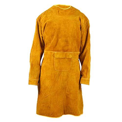 Almencla Verschleißfestes Und Hochtemperatur Lederschweißen Trägt Kleidung - Gelb, 100CM