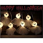 Shanke Geist Lichterkette 20 LEDs 3.5M Halloween 2019 Dekoration String Lichter Glühen Lantern Lights für Indoor Home…