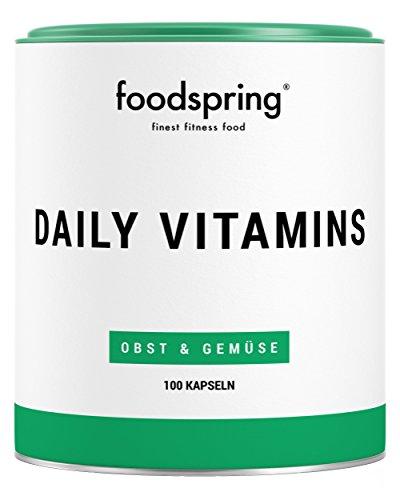 foodspring Daily Vitamins, 100 Kapseln, Multivitamin Supplement für jeden Tag, Hergestellt in...
