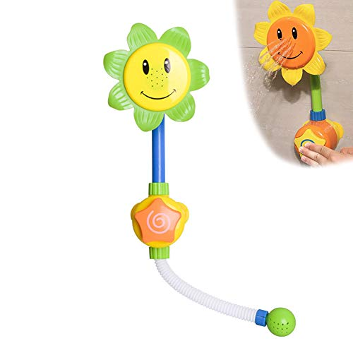 ad-Spielzeug-Sonnenblume-Karikatur Wasser-Dusche Spray Bade Tub Springbrunnen Spielwaren für Kinder Jungen-Mädchen-Geschenke (Gelb) ()