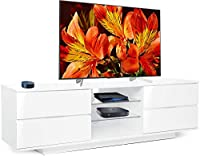 "Centurion Avitus Premium High Gloss White with 4-White Drawers & 3-Shelf 32""-65"" LED/ OLED / LCD TV Cabinet - FULLY ASSEMBLED"