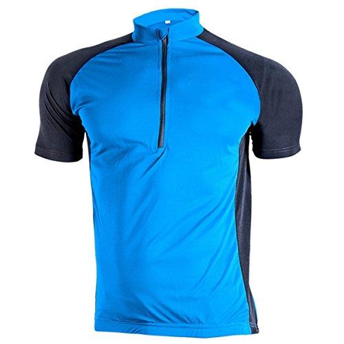 SWISSWELL Herren Kurzarm Fahrrad Radfahren Jersey Quick Dry Zyklus Fahrradtrikot Hemd Trikot Cycling Bike Shirt 2018 Sommer New Collection Blau XL