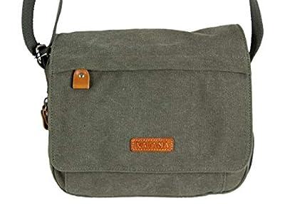 Katana petit sac besace toile garni cuir réf 6514 (kaki)