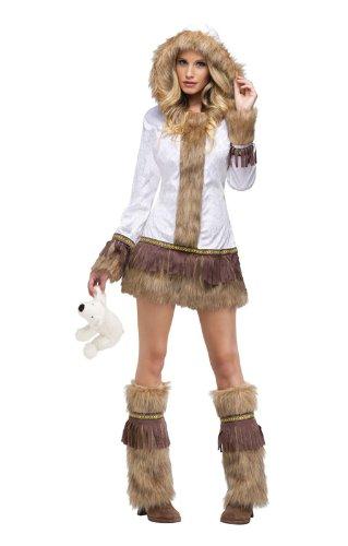 Sexy Eskimo Damen Kostüm S/M (Sexy Eskimo Kostüme)