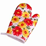 OGAWOO Oven Mitts Cute Kitchen supplies Cotton thick microwave oven gloves High temperature hot insulation gloves,4