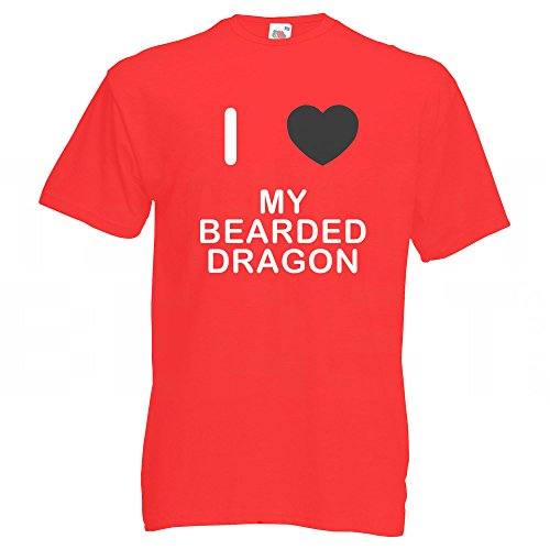 I Love My Bearded Dragon - T-Shirt Rot