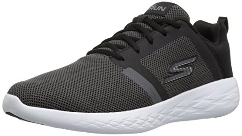 Skechers Go Run 600-Revel, Chaussures de Fitness Homme Noir (Black/white)