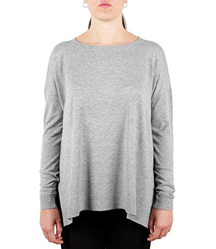 Polo Ralph Lauren Damen Langarmshirt LS Strchd CN-Long Sleeve-Sweat Grau Fawn Grey Heather Xwdk3