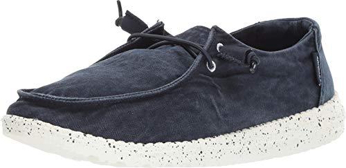 Dude Shoes Frauen Wendy Gewaschenen Marine UK6 / EU39 - Leder-optionen-beenden
