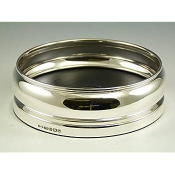 "Wine Bottle Slate Barrel COASTER 4 1//2/"" Boxed Solid Silver NEW"