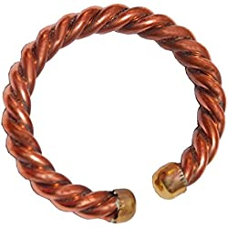 Sullery Artificial Rope Religious Plain 10 mm Thickness Brown Copper Round Kada For Men And Women