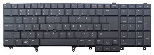 New uns schwarz Tastatur mit Hintergrundbeleuchtung mit Rahmen und Mauszeiger für Dell Latitude E5520E5530/E6520/E6530Serie Laptop.