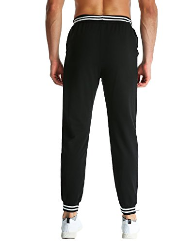 MODCHOK Herren Jogginghose Lange Sport Hose Fitnesshose Cargo Traininghose Pants Schwarz 1