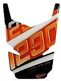 BIKE-label 502544 Tankpad 3D Orange Stripes Tank-Schutz passend für KTM-1290 Super Duke GT