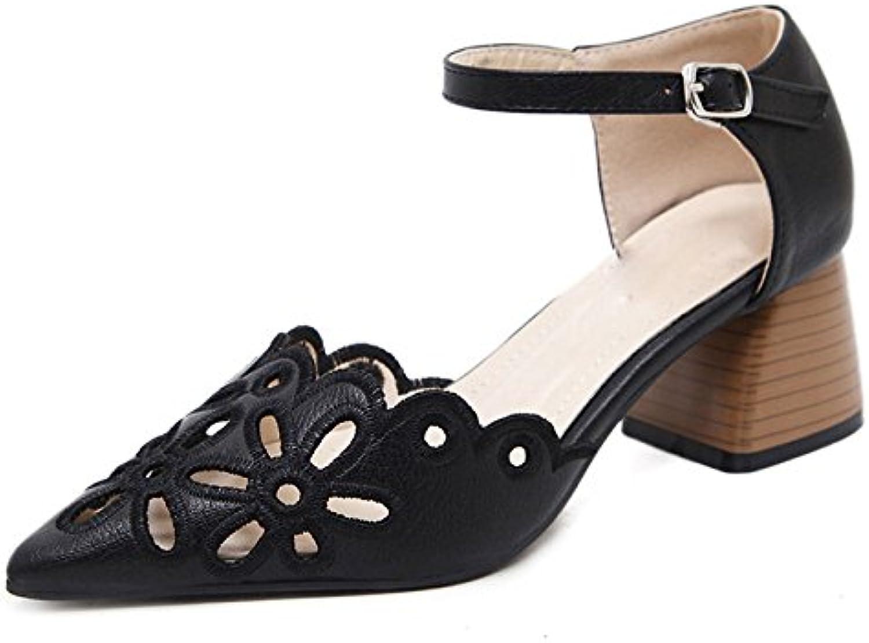 ZPFFE Zapatos De Tacón Alto De Tacón Alto Sandalias De Tacón Bloque Sexy Para Mujeres Zapatos De Fiesta De Noche...