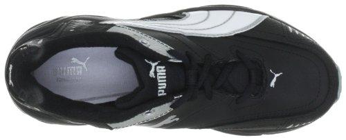 Puma Xenon Trainer, Unisex - Kinder Hallenschuhe Schwarz (black-white-quarry 11)