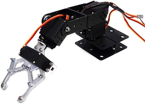 Homyl Robot Bras DIY Assemblé 4-dof en Alliage Poignée Griffe Biaxial pour Arduino d'apprentissage | Couleur Rapide
