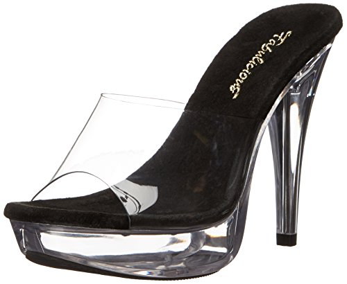 Fabulicious Damen Cocktail-501 Pumps Clr-Blk/Clr