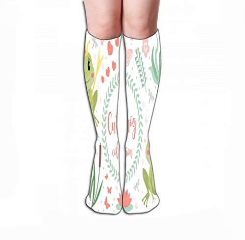 GHEDPO Hohe Socken Print Knee High Socks 19.7