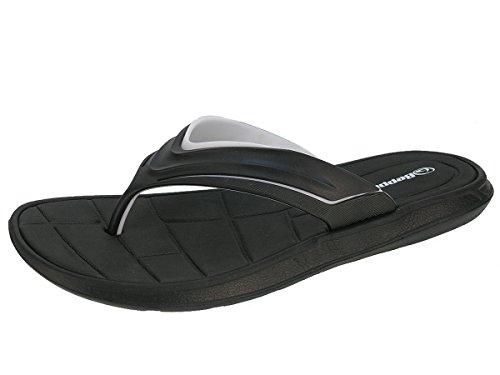 Beppi uomini flip pantofole pistoni di cadute ciabatte estive Nero