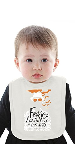 Fear And Loathing In Las Vegas Organic Baby Bib With Ties Medium