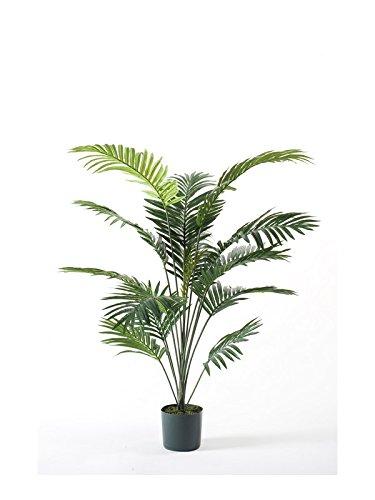 artplants – Künstliche Kentia Palme SEYA, 16 Wedel, grün, 150 cm – Kunst Palmen Baum/Deko Topf Pflanze