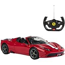 Rastar - Coche taledirigido 1:14 Ferrari 458 Speciale A, sin capota, rojo