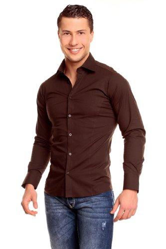 Redbridge r-2111, camicia casual uomo, marrone (braun), 2xl
