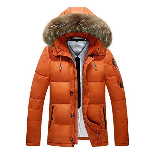 Luckycat Mode Herren Herbst Winter Warm Button Pocket Zipper Hooded Jacket Top Coat Winterjacke Steppjacke Daunenjacke Parka Mäntel Jacken