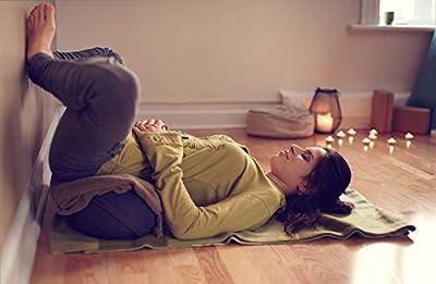 Yogakissen Halbmond »Shankar« / Klassisches Yoga Meditationskissen / 100% Baumwolle / 42 cm x 25 cm / In vielen wunderschönen Farben erhältlich z.B. Mitternachtsblau Chocolate Taubenblau Olivegrün Oldgray Bordeaux