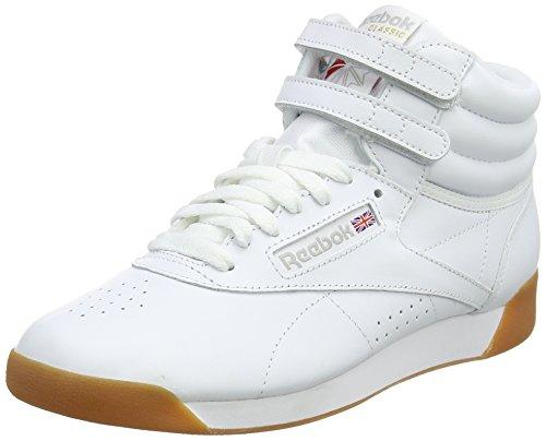 Reebok Damen Freestyle Hi Fitnessschuhe, Mehrfarbig (White/Gum 000), 39 EU